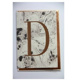 Katie Leamon Marbled Alphabet Card - D
