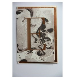 Katie Leamon Marbled Alphabet Card - E