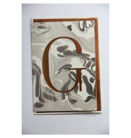 Katie Leamon Marbled Alphabet Card - G