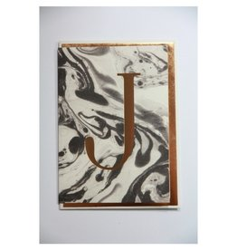 Katie Leamon Marbled Alphabet Card - J
