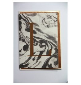 Katie Leamon Marbled Alphabet Card - L