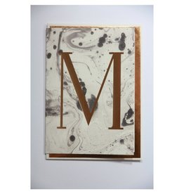 Katie Leamon Marbled Alphabet Card - M