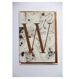 Katie Leamon Marbled Alphabet Card - W