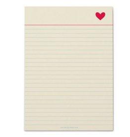 Snow & Graham Heart Notepad