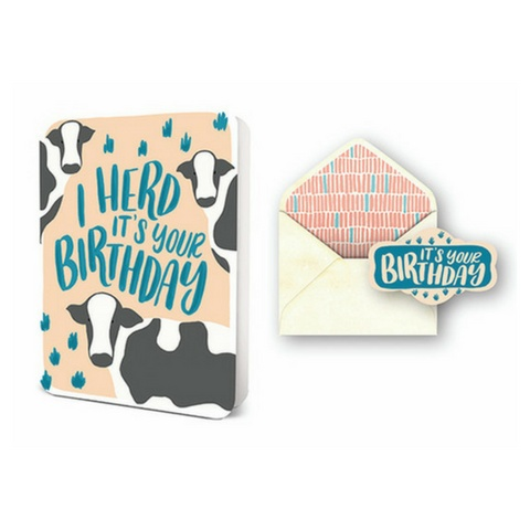 Studio Oh I Herd Its Your Birthday Card Set Typo Market