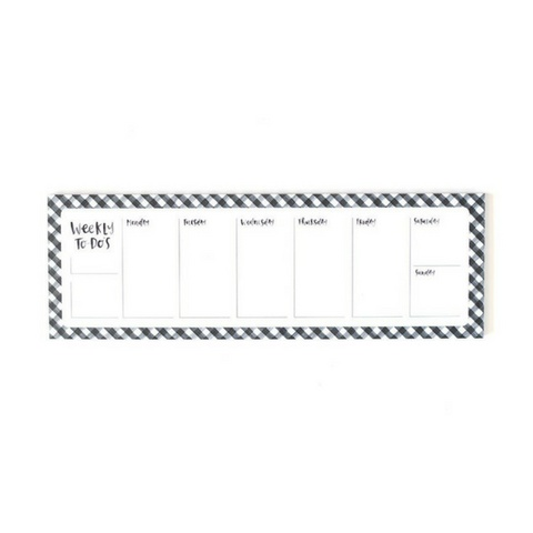 1Canoe2 Black Gingham Weekly Notepad