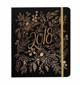 Rifle Paper 2018 Floral Foil Spiral Planner