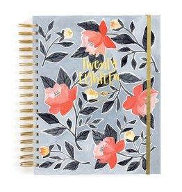 1Canoe2 2018 Blue Floral Planner