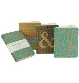 Calypso Cards Mini Kraft Notebooks, Set/3