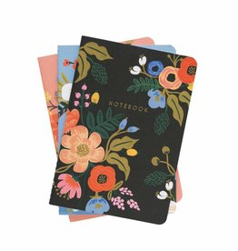 Rifle Paper Lively Floral Notebooks, Set/3