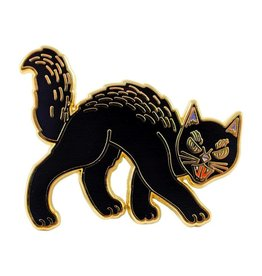 Valley Cruise Press Retro Black Cat Pin