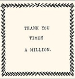 sugarboo designs thank you times a million notecard - Sugarboo