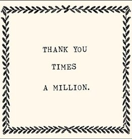 SugarBoo Designs Thank You Times A Million Notecard