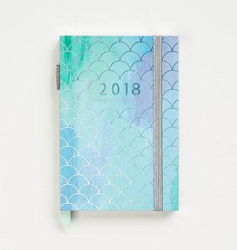 Waste Not Paper Mermaid Scales Blue Planner