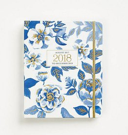 Waste Not Paper Blue Floral Planner 2017-2018