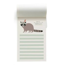 Pleased to Meet Racoon Notepad