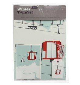 Pleased to Meet Gondola Twin Set Gift Wrap