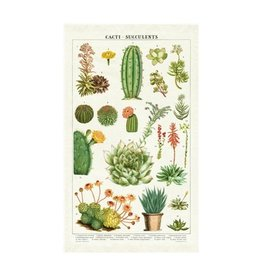 Cavallini Papers Succulents Tea Towel