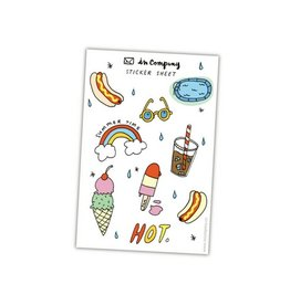 In Company Summer Sticker Sheet