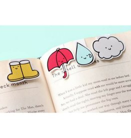 Crafted Van Rainy Day Mini Magnetic Bookmarks, 3pk
