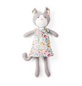 Hazel Village Gracie Cat, Sweet Rose Dress/Bonnet