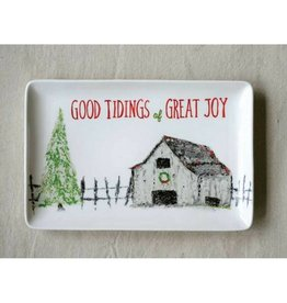 Creative Co-op Good Tidings Platter