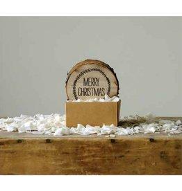 Creative Co-op Merry Christmas Coasters, Wood