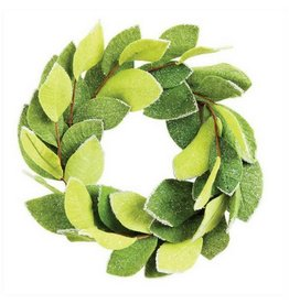 Creative Co-op Felt Magnolia Wreath