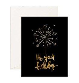 Fox and Fallow Birthday Sparkler Card
