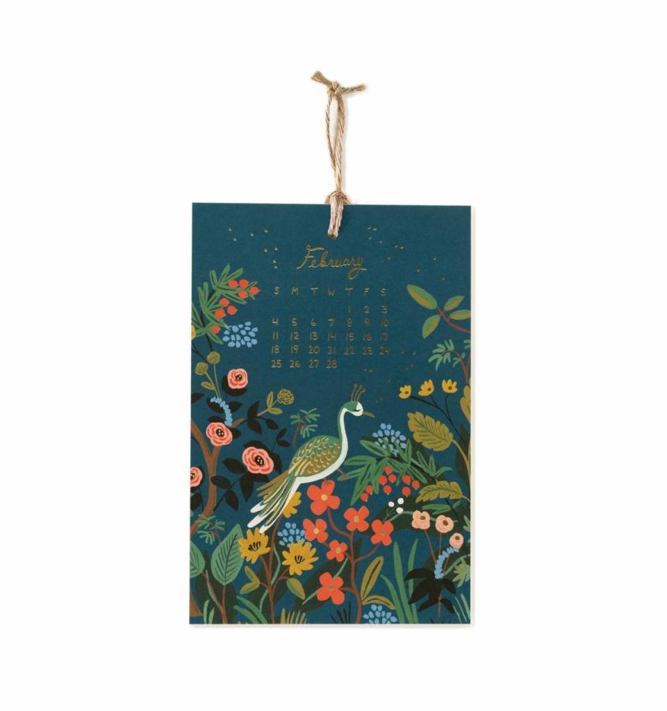 Rifle Paper 2018 Midnight Menagerie Wall Calendar