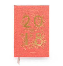 Rifle Paper 2018 Coral Hardcover Agenda