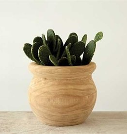 Creative Co-op Paulownia Wood Pot