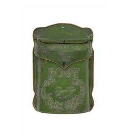 Creative Co-op Tin Post Box - Dark Green
