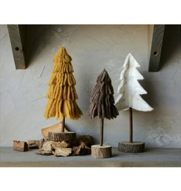 Creative Co-op Wool Tree, Ivory