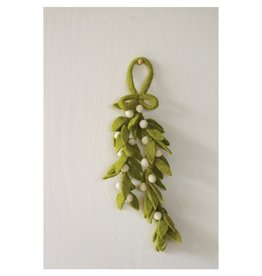 Creative Co-op Felt Mistletoe Leaves w/Berries