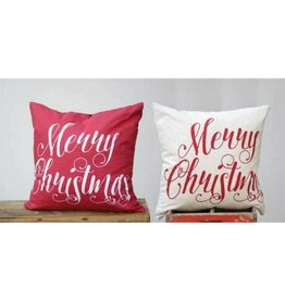 Creative Co-op Merry Christmas Pillow, 2 colors