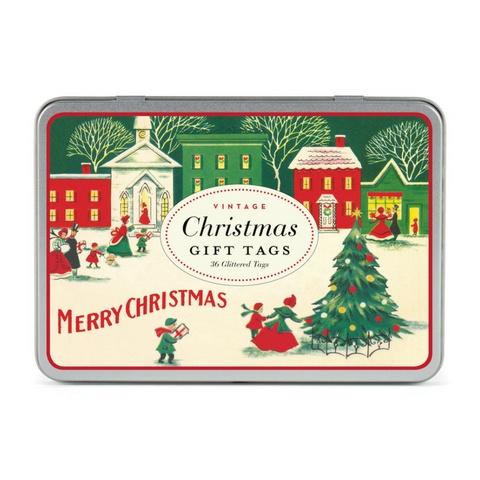 cavallini papers vintage christmas gift tags typo market