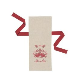 Now Designs Folk Feathers Wine Bag