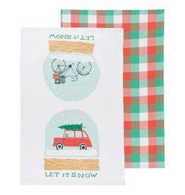 Now Designs Let it Snow Tea Towel, Set/2