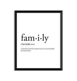 Footnotes Studio Art Print - Family