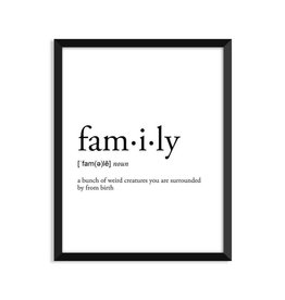 Footnotes Studio Greeting Card - Family