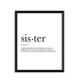 Footnotes Studio Greeting Card - Sister