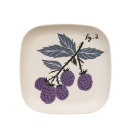 Magpie & Jay Flora Bamboo Tray, Blackberries