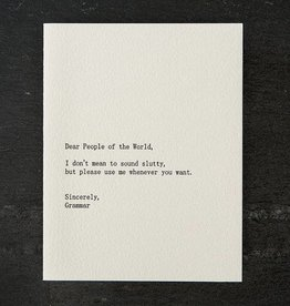 Sapling Press Dear Blank: People/Grammar