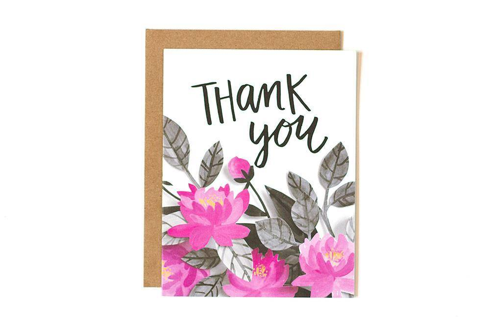 1Canoe2 Thank You Pink Floral, Boxed Set/8