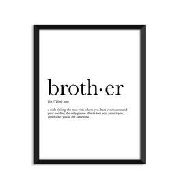 Footnotes Studio Art Print - Brother