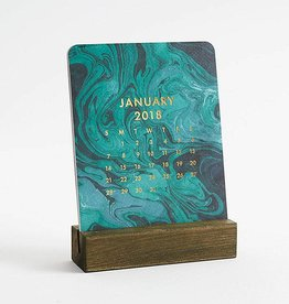Waste Not Paper 2018 Marbled Easel Calendar