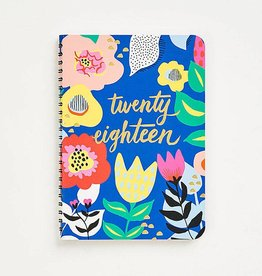Waste Not Paper 2017-2018 Floral Flex Planner