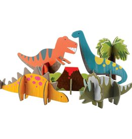 Petit Collage Dinosaurs Pop Out