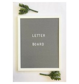 Aspen Lane Letter Board, White Frame/Grey